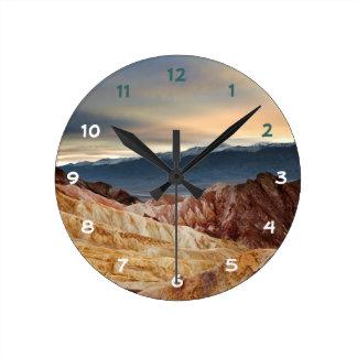 日没の金渓谷 ラウンド壁時計
