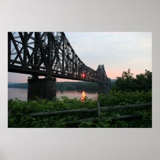 日没の鉄道橋 ポスター