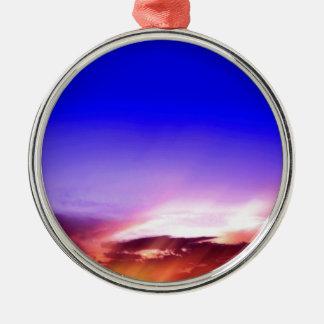 日没の雲及び青空 メタルオーナメント