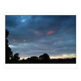 日没の雲9月5日 ポストカード