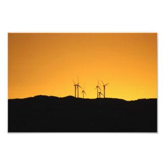 日没の風力 フォトプリント
