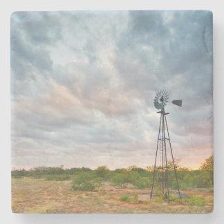 日没の風車そして雲 ストーンコースター