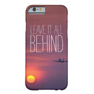 日没の飛行機のwanderlustの後ろのそれをすべて残して下さい barely there iPhone 6 ケース