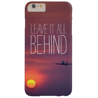 日没の飛行機のwanderlustの後ろのそれをすべて残して下さい barely there iPhone 6 plus ケース