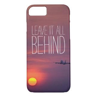 日没の飛行機のwanderlustの後ろのそれをすべて残して下さい iPhone 8/7ケース