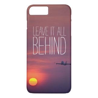 日没の飛行機のwanderlustの後ろのそれをすべて残して下さい iPhone 8 plus/7 plusケース