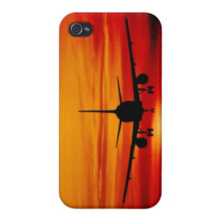 日没の飛行機 iPhone 4/4S ケース