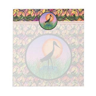 日没の鳥のメモ帳 ノートパッド