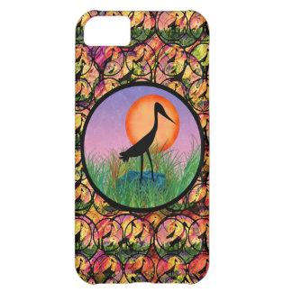 日没の鳥のiPhone 5の場合 iPhone5Cケース