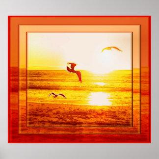 日没の鳥ポスター ポスター