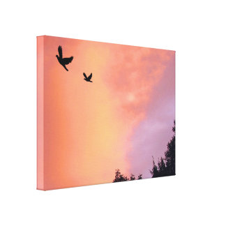 日没の鳥 キャンバスプリント