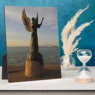 日没のASASの天使の彫像 フォトプラーク