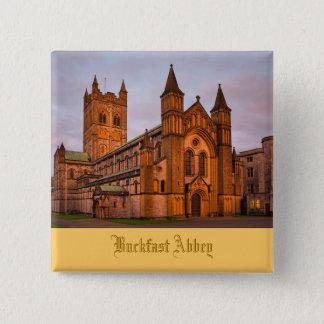 日没のBuckfastの大修道院 缶バッジ