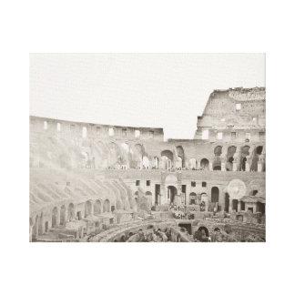日没のColosseum キャンバスプリント