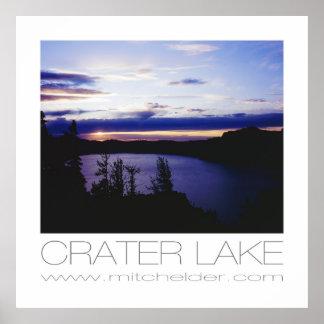 日没のcrater湖 ポスター