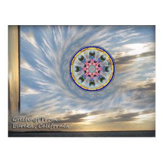日没のEureka Dharmaの車輪 ポストカード