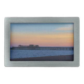 日没のHastrings桟橋 長方形ベルトバックル