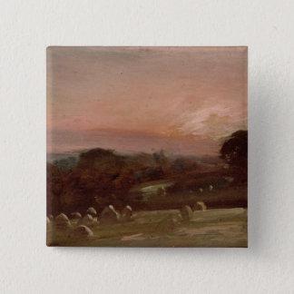 日没のHayfield近東Bergholt 5.1cm 正方形バッジ