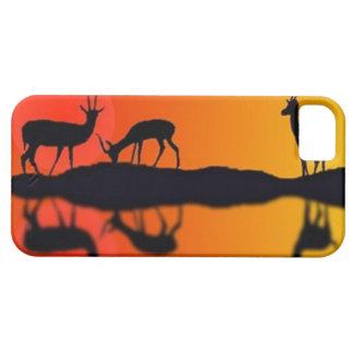 日没のIphoneの場合の飲むガゼル iPhone SE/5/5s ケース