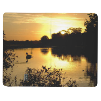 日没のswan湖のオレンジ黄色 ポケットジャーナル