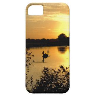 日没のswan湖のオレンジ黄色 iPhone SE/5/5s ケース