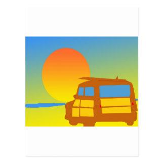 日没のWoodie ポストカード