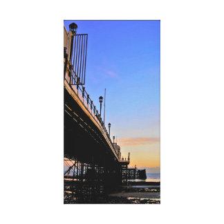 日没のWorthing桟橋 キャンバスプリント