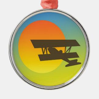 日没への飛行 メタルオーナメント
