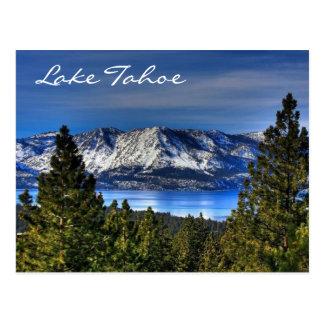 日没タホ湖ネバダ/カリフォルニア郵便はがき ポストカード
