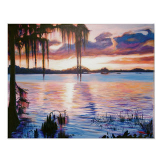日没ポスター芸術の湖Maitland ポスター