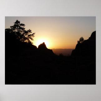 日没大きいくねりの国立公園の窓 ポスター