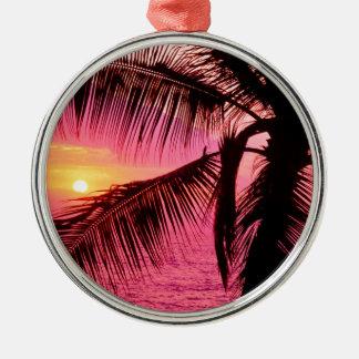 日没熱帯配置のハワイ メタルオーナメント