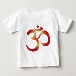 日没色のSanskrit Om ベビーTシャツ