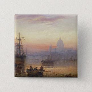 日没1876年のロンドンのプール 5.1CM 正方形バッジ