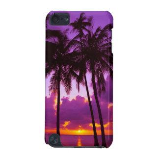 日没2のipod touch紫色の熱帯5Gの箱 iPod Touch 5G ケース