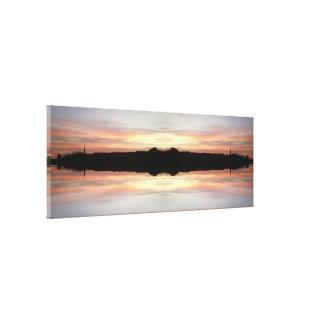 日没723のフラクタルのキャンバス キャンバスプリント
