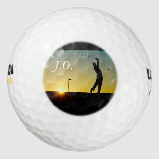日没-あなたが個人化できるゴルフ・ボール- HAMbyWG ゴルフボール