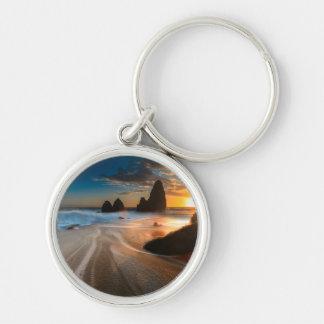 日没|の北カリフォルニアの海岸線 キーホルダー