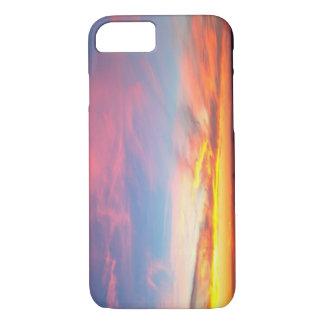日没|の火の島、ニューヨーク iPhone 8/7ケース