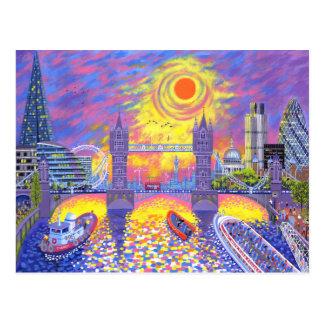 日没: ロンドン2013年のプール ポストカード
