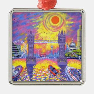 日没: ロンドン2013年のプール メタルオーナメント