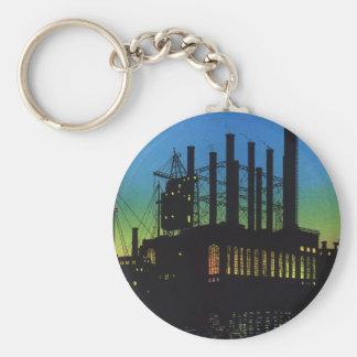 日没、ヴィンテージビジネスの製造業の工場 キーホルダー