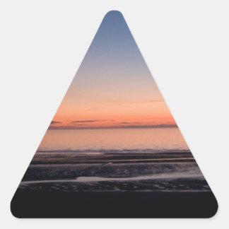 日没 三角形シール