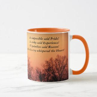 日没:  、不可能、危険の試み無意味 マグカップ