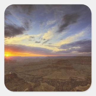 日没、壮大なグランドキャニオンの南縁 スクエアシール