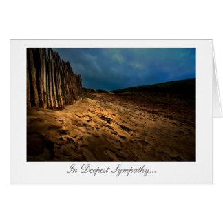 日没-最も深い悔やみや弔慰の海岸出口 カード