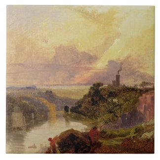 日没(紙の油)のAvonの峡谷 タイル