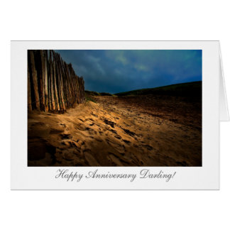 日没-結婚記念日の海岸出口 カード
