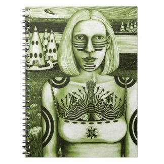 日没-緑 ノートブック