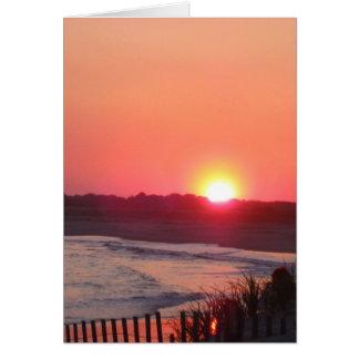 日没* Cape May、ニュージャージー カード